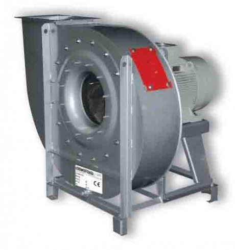 Centrifugal fans with exhaust